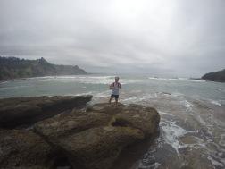 The beautiful and rocky coast of New Zealand