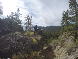 Looking out over the west edge of Lake Tahoe